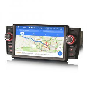 Navigatie auto, Pachet dedicat Fiat Punto Linea ,7 inch, Android 9.0, GPS, WIFI, DAB+.8