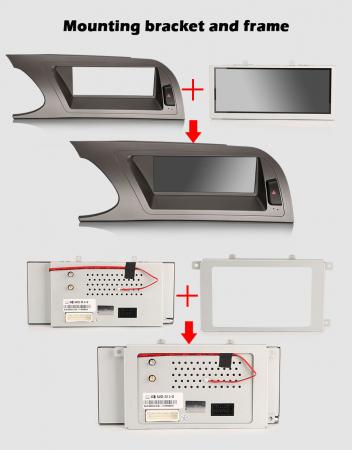 Navigatie auto, Pachet dedicat Audi A4 2009-2012, Android 10.0, 8.8 Inch [10]