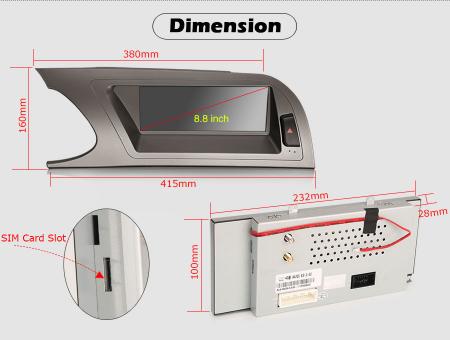 Navigatie auto, Pachet dedicat Audi A4 2009-2012, Android 10.0, 8.8 Inch [11]