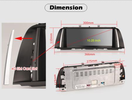 Navigatie auto, Pachet dedicat BMW F10/F11 NBT ,10.25 Inch, Android 10.0. [9]