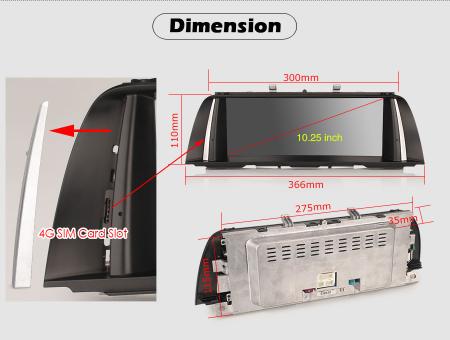 Navigatie auto, Pachet dedicat BMW F10/F11 CIC ,10.25 Inch, Android 10.0 [11]