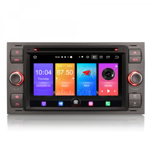 Navigatie auto 2 din, Pachet dedicat Ford Fusion Focus C-Max Fiesta Kuga Mondeo, 7 Inch, Android 10.00