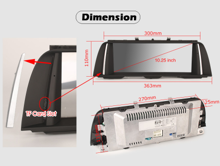 Navigatie auto, Pachet dedicat BMW F10/F11 CIC NBT ,10.25 Inch, Android 10.0, Octa Core [11]