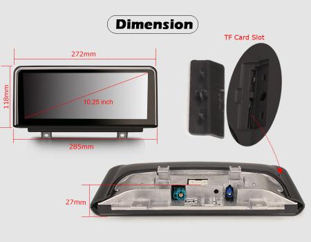 Navigatie auto, Pachet dedicat BMW 1er-F20/F21, 3er-F30/F31/F34, 4er-F32/F3 , 10.25 Inch, Android 10.0, Octa Core [13]