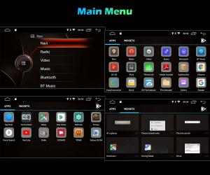 Navigatie auto, Pachet dedicat BMW Seria 3 ,8 inch, Android 108