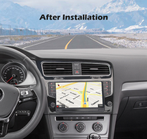Navigatie auto 2 din, Pachet dedicat VW GOLF VII/7, Android 10, 9 inch [7]