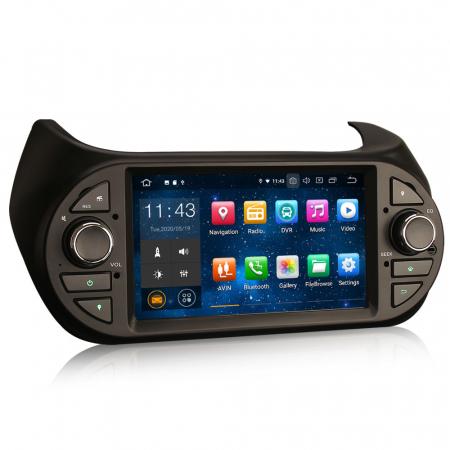Navigatie auto, Pachet dedicat Fiat Fiorino Citroen Nemo Peugeot Bipper  ,7 inch, Android 10.07