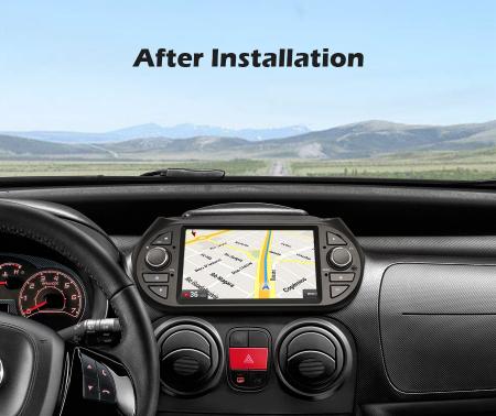 Navigatie auto, Pachet dedicat Fiat Fiorino Citroen Nemo Peugeot Bipper  ,7 inch, Android 10.08