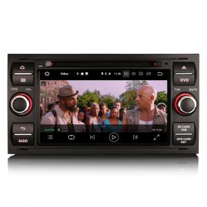 Navigatie auto 2Din, Pachet dedicat Ford Focus Kuga Transit Galaxy, 7 Inch, Android 10.07
