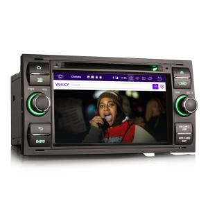 Navigatie auto 2Din, Pachet dedicat Ford Focus Kuga Transit Galaxy, 7 Inch, Android 10.04