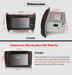 Navigatie auto, Pachet dedicat MercedesBenz C-Class W203 CLC CLK W209,7 inch, Android 10, Octa Core8