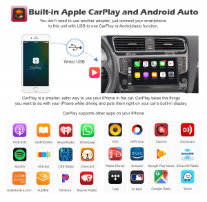 Navigatie auto 2Din, VW GOLF VII/7, Android 10, 9 inch, Octa core CPU [10]