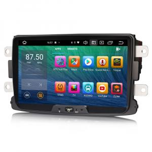 Navigatie auto, Pachet dedicat Renault Dacia Duster Logan Sandero Dokker, 8 Inch, Android 10.0, Octa Core5