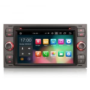 Navigatie auto 2 din, Pachet dedicat Ford Fusion Kuga Mondeo Fiesta, 7 Inch, Android 10.0, Octa Core [0]