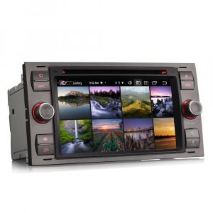 Navigatie auto 2 din, Pachet dedicat Ford Fusion Kuga Mondeo Fiesta, 7 Inch, Android 10.0, Octa Core3