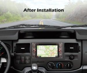 Navigatie auto 2 din, Pachet dedicat Ford Fusion Kuga Mondeo Fiesta, 7 Inch, Android 10.0, Octa Core9