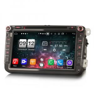 Navigatie auto 2 din, Pachet dedicat VW Seat Skoda, Android 10, 7 inch, Octa Core1