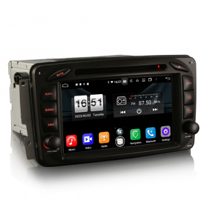 Navigatie auto , Pachet dedicat Mercedes BENZ C/CLK/G Class Vito Viano, Android 10, 7 Inch, Octa Core7