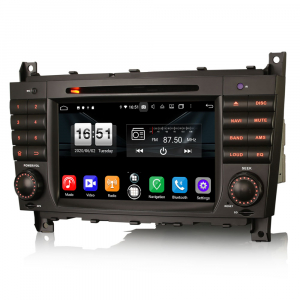 Navigatie auto , Pachet dedicat Mercedes Benz C/CLC/CLK Klasse W203 W209, Android 10, 7 Inch, Octa Core2