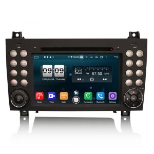 Navigatie auto, Pachet dedicat Mercedes-Benz SLK R171 ,7 inch, Android 10, Octa Core0