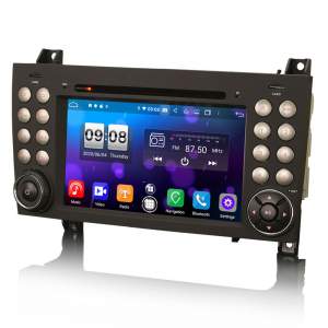 Navigatie auto, Pachet dedicat Mercedes-Benz SLK R171 ,7 inch, Android 10, Octa Core1