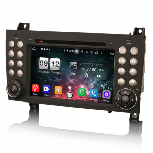 Navigatie auto, Pachet dedicat Mercedes-Benz SLK R171 ,7 inch, Android 10, Octa Core3