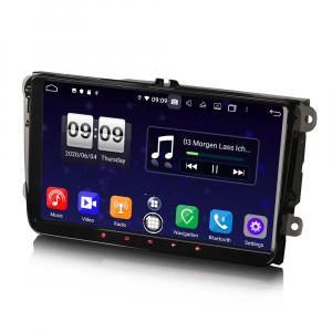 Navigatie auto 2 din, Pachet dedicat VW Golf Passat Tiguan Polo Eos Seat Skoda Stereo, Android 10, 9 inch, Octa Core5