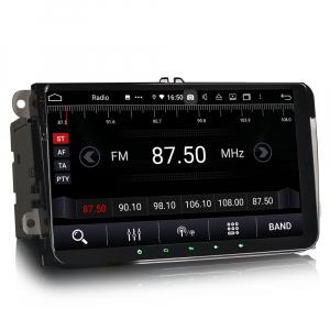 Navigatie auto 2 din, Pachet dedicat VW Golf Passat Tiguan Polo Eos Seat Skoda Stereo, Android 10, 9 inch, Octa Core6