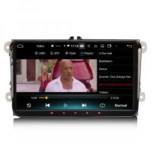 Navigatie auto 2 din, Pachet dedicat VW Golf Passat Tiguan Polo Eos Seat Skoda Stereo, Android 10, 9 inch, Octa Core7