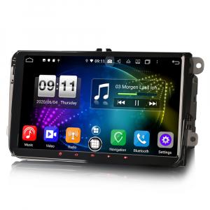 Navigatie auto 2 din, Pachet dedicat VW Golf Passat Tiguan Polo Eos Seat Skoda Stereo, Android 10, 9 inch, Octa Core2