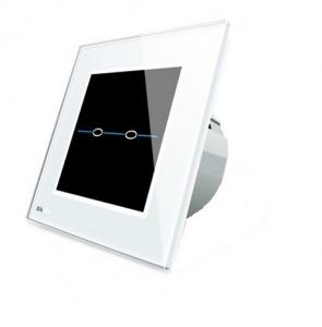 Intrerupator dublu cu touch Livolo din sticla - Seria R1
