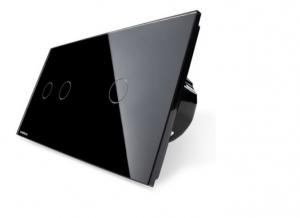 Intrerupator dublu + simplu cu touch Livolo din sticla [3]