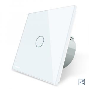 Intrerupator simplu cap scara - cap cruce cu touch Livolo din sticla - protocol ZigBee1