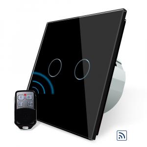 Intrerupator dublu cu touch Livolo, Wireless, Telecomanda inclusa3