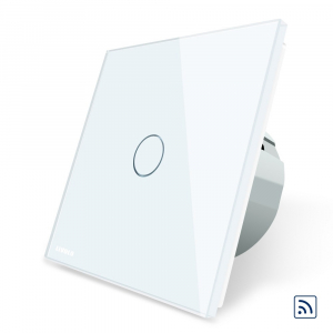 Intrerupator simplu cap scara / cap cruce wireless cu touch Livolo din sticla1