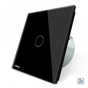Intrerupator simplu cap scara / cap cruce wireless cu touch Livolo din sticla0
