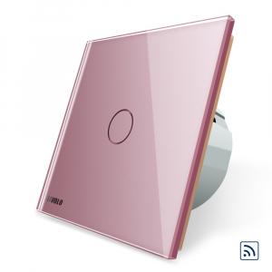Intrerupator simplu cap scara / cap cruce wireless cu touch Livolo din sticla5
