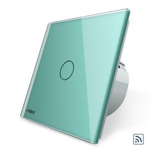 Intrerupator simplu cap scara / cap cruce wireless cu touch Livolo din sticla6