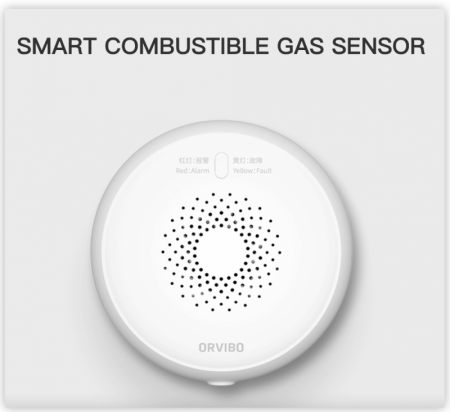 Senzor Smart de gaz ORVIBO, ZigBee, Wi-Fi, 2.4 GHz, indicator LED, SG30 [2]