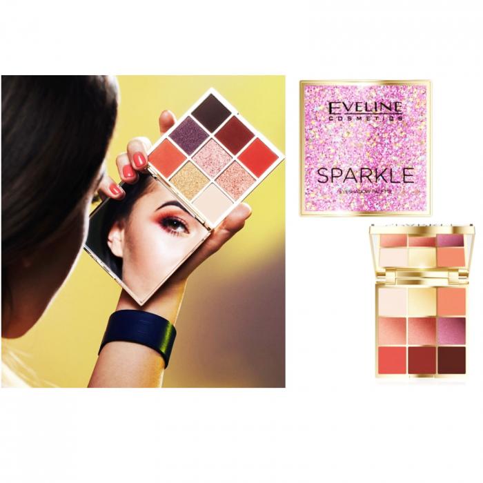 Fard Ochi Sparkle 9 Culori EVELINE [2]