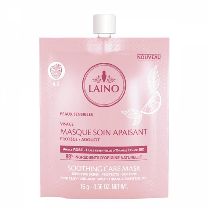 Laino Mască calmantă cu argilă roz pentru ten sensibil 16g 0