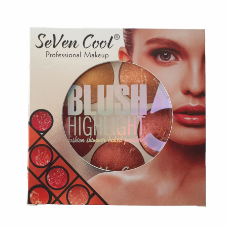 Trusa Blush Highlight 5 Culori Seven Cool [1]