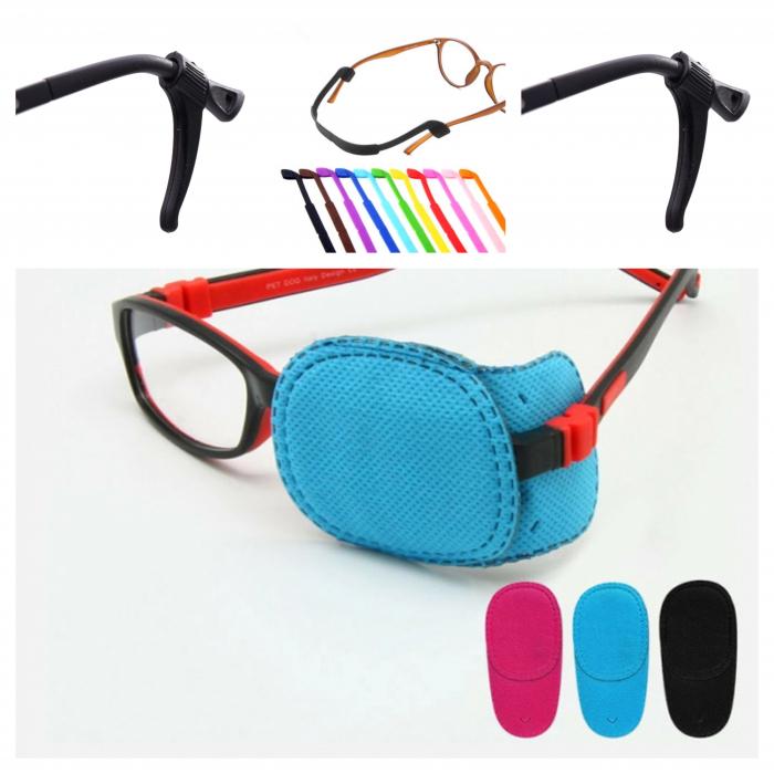 Ocluzor copii, ocluzor, ocluzor ambliopie, ocluzor glassframe, ocluzor pentru ochelari copii, benzi silicon pentru ochelari, accesorii silicon pentru ochelari, terminale ochelari [0]
