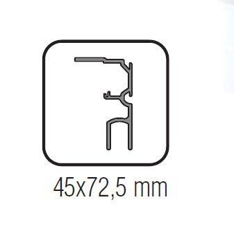 Profil parte fixa Standard EASY 80 1