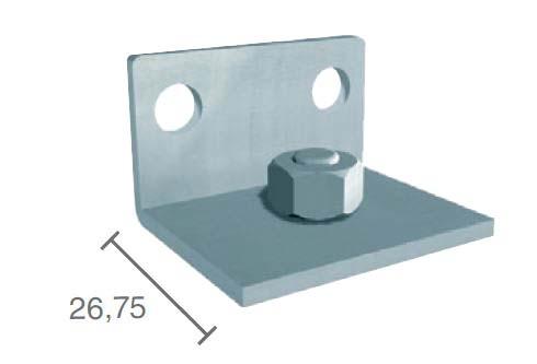 Coltar montaj pe perete profil glisare Standard EASY 80 1