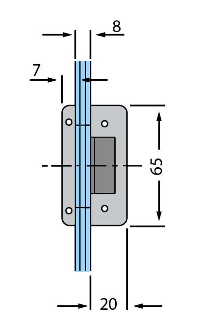 Contrabroasca Dorma Studio Rondo usa sticla 8-10 mm 3
