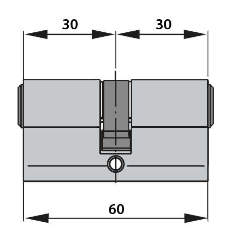 Cilindru baie Dorma pentru broasca usa sticla 8-10 mm 1