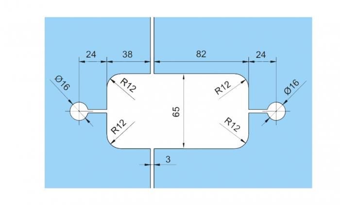 Set 2 balamale hidraulice Dorma Tensor sticla/sticla 2