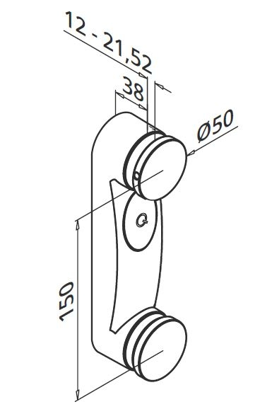 Prindere punctuala dubla Ø50x38 mm 1
