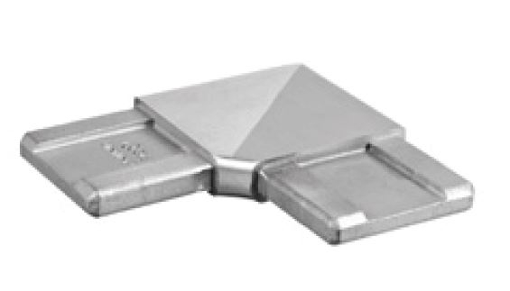 Imbinare orizontala 90° mana curenta rectangulara 40x10 mm 0